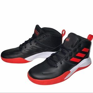 Adidas SZ 6 Black Red White Own The Game Sneakers